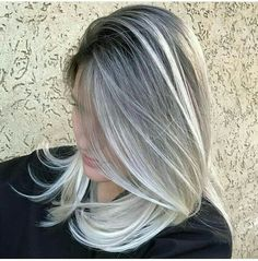 Silver White Hair, Hair Color, Make Up, Long Hair Styles, Face, Beauty, Hairstyles, Women, Painting