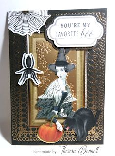 I usually don't send Halloween cards out but I do make them. I like the playfulness of these cards. Fall Cards, Holiday Cards, You're My Favorite, My Favorite Things, Anna Griffin Cards, Card Kit, Halloween Cards, Stamp, Flowers