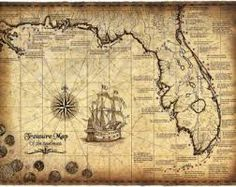 101 Pirates And Their Flags Large Artwork - Pirates - x Pirate Print - Pirate Flags - Pirate Map - Blackbeard - Old Maps & Prints Old Maps, Antique Maps, Vintage Maps, Old World Maps, Real Treasure Maps, Pirate Treasure, Pirate Maps, Fantasy Map, Shipwreck
