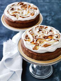 caramel three-milk cake from Donna Hay Magazine Autumn 2015 issue 80 Baking Recipes, Cake Recipes, Dessert Recipes, Cupcakes, Cupcake Cakes, Three Milk Cake, Beaux Desserts, Gateaux Cake, Brownie