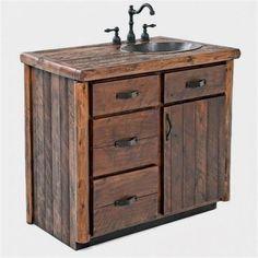 Search rustic vanity, log vanity or barnwood vanities, single or double, handmade from real wood in the USA. Choose your ideal rustic bathroom vanity today! Rustic Vanity, Rustic Bathroom Vanities, Rustic Bathrooms, Chic Bathrooms, Wood Bathroom, Bathroom Vanity Lighting, Bathroom Styling, Bathroom Furniture, Master Bathroom