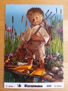 Postkarte AK Mecki Nr.1011 Sternzeichen * Wassermann * vom 21.Januar - 18. Feb | eBay