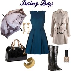 Challenge the rains and step out when the world is sulking with rainy day gloom. Sport thebest rainy day boots outfits which are comfy yet high on style. Rainy Outfit, Cute Rainy Day Outfits, Outfit Of The Day, Fall Outfits, Work Outfits, Berlin Mode, Work Fashion, Fashion Outfits, Fashion Ideas