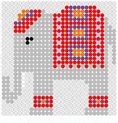 Elephant adapt a cross stitch chart from Perler Bead Patterns