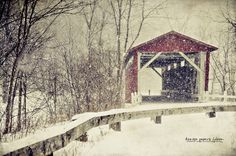 Everett Road Covered Bridge, Cuyahoga Valley National Park, near Akron, Summit County, Ohio
