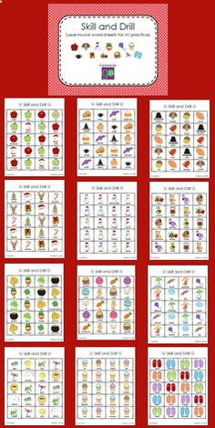 Articulation Skill and Drill for /r/ - This set contains a word-sheet to pair with every season, month, and major holiday; each are ideal for individual or group practice. While every word-sheet contains vocabulary focusing on /r/ in all positions of words, they are versatile enough to target a variety of both articulation and language skills depending on student need(s). Repinned by SOS Inc. Resources pinterest.com/....