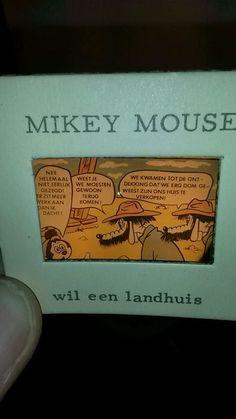 Online veilinghuis Catawiki: Disney - Mikey Mouse toverlantaarnplaatjes - Mickey wil een landhuis #disney #mickeymouse #vintagedisney