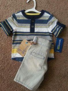 OshKosh Henley Tee & Shorts NWT SZ 12 Months BOYS  #OshKoshGenuineKids #twodollarshipping #clearancesale