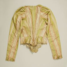 Bodice Date: 18th century Culture: American or European Medium: silk Accession Number: C.I.39.13.205