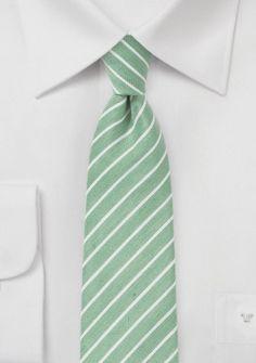 Trend-Krawatte edelgrün gesprenkelt Streifen