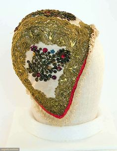 Embroidered Newborn's Cap, Europe, 18th C, Augusta Auctions, April 9, 2014 - NYC, Lot 47