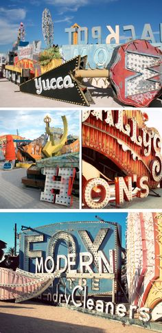 The Neon Boneyard. Pinner has an AMAZING collection of art (including photography) - great resource!