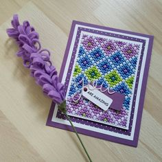 Another #crossstitchcard