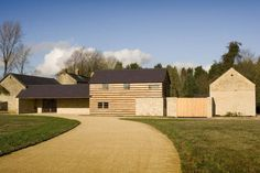 Watergate Farm, North Oxfordshire by James Gorst Architects Modern Barn, Modern Rustic, Modern Farmhouse, Amazing Architecture, Architecture Details, Agricultural Buildings, Timber Buildings, Cladding, Facade