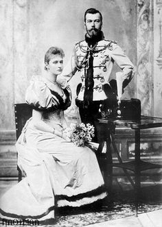Tsar Nicholas II and Alexandra´s Official Engagement Picture