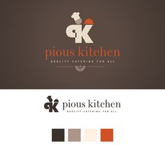 Logo Design for Pious Kitchen Catering. #logodesign #logo #catering