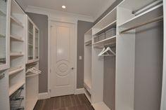 Mud Room Shelving - Get Organized! Custom Closet Design, Custom Closets, Master Bedroom Closet, Small Closets, Room Shelves, Closet Ideas, Mudroom, Getting Organized, Shelving
