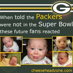 When told the Green Bay Packers were not going to be in the Super Bowl these future fans reacted.