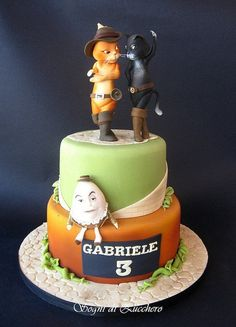 Image detail for -Puss in boots cake