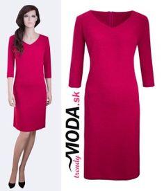 Červené úpletove šaty - trendymoda.sk Dresses For Work, Fashion, Moda, Fashion Styles, Fashion Illustrations