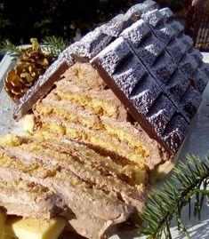 Συνταγή για γλυκό χριστουγεννιάτικο σπιτάκι συνταγή Dear Santa, Waffles, Cooking, Breakfast, Desserts, Christmas, Food, Friends, Kitchen