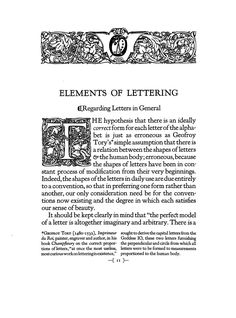 Frederic William Goudy The Elements Of Typographic Style