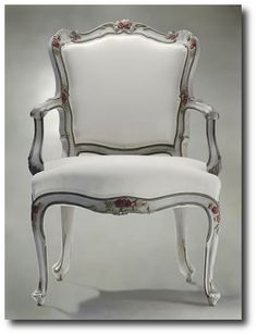 Italian Antique Painted Armchair