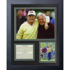 Legends Never Die Jack Nicklaus and Arnold Palmer Portrait Collage Photo Frame, 11 inch x 14 inch