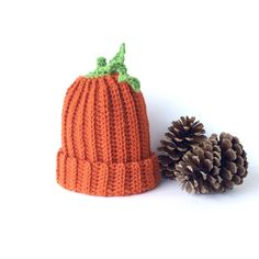 Toddler's or Children's Crochet Pumpkin Hat | Orange Pumpkin Hat | Fall Fashion for Kids | Halloween Pumpkin Beanie
