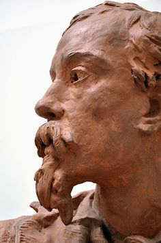Buste de Charles Carpeaux (1825-1870) violoniste, par son frère Jean-Baptiste Carpeaux  ( Valenciennes ) Carpeaux, French Sculptor, Wax Carving, Jean Baptiste, Clay Art, Romans, Sculpture Art, Sculpting, Bronze