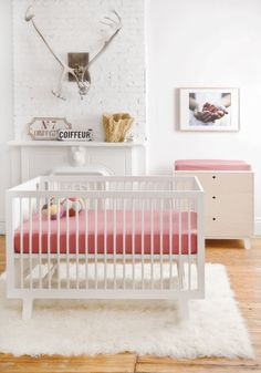 ChicDecó | baby girl's nursery with Sparrow cot by Oeuf