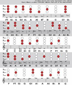 French Horn Finger Chart could be useful for some of the lower bass clef stuff Trumpet Fingering Chart, Saxophone Fingering Chart, Recorder Fingering Chart, Mellophone, Band Jokes, Instruments, Band Nerd, French Horn, Love Band