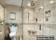Elegant Master - traditional - Bathroom using Cream Stone Mosaic tile in the shower pan and as an accent tile on the walls. Description from pinterest.com. I searched for this on bing.com/images