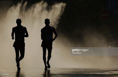 Athletes compete in the Men's 50km Race Walk final during Day Five of the 14th…