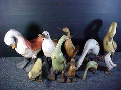 10 Wooden Handmade Ducks