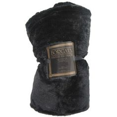 Black Faux Fur Throw for Lindsey's room