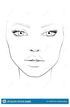 Mac Face Charts, Makeup Face Charts, Face Makeup, Girl Face, Woman Face, Face Template Makeup, Face Mapping, Face Sketch, Fashion Illustration Sketches