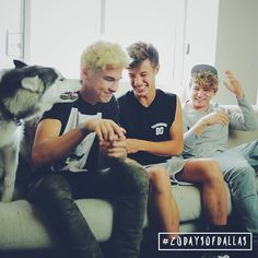 Yesss Cameron Dallas JC Caylen and Kian Lawley Filming for 20 days of dallas #20daysofdallas @CameronDaIlas