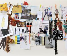 Vision board on a string? Not sure if this seems too messy, but I still like it as an improv for not having an actual board yet.
