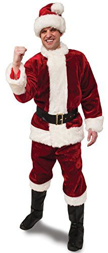 Rubies Crimson Regency Plush Santa SuitRed/White Standard ** Click photo for even more information. (This is an affiliate link). Christmas Costumes, Halloween Costumes, Knight Costume, Santa Beard, Santa Boots, California Costumes, Santa Costume, Elastic Waist Pants, Line Jackets