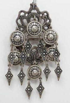 Rare Antique Henrik Moller 830 Silver Dragestil Solje Wedding Brooch Norway in Jewelry & Watches, Vintage & Antique Jewelry, Vintage Ethnic/Regional/Tribal, Scandinavian | eBay