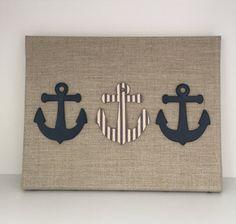 Nautical Nursery Art  Anchor Artwork  Navy by EthelsGranddaughter