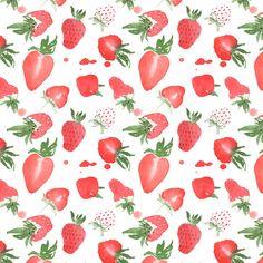 Tasty strawberries pattern design - Giorgia Bressan Illustration