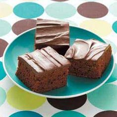 Zucchini brownies with chocolate peanut butter frosting...how to use my zuchinni