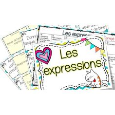 Les expressions - cartes à tâches ! School Organisation, Formation Continue, Classroom Procedures, French Grammar, Teachers Corner, Teacher Inspiration, French Class, Class Activities, Teaching French
