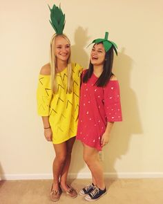 Halloween costume for all ages! Strawberry & pineapple