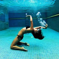 Dancing underwater. #yoga #water #gopro