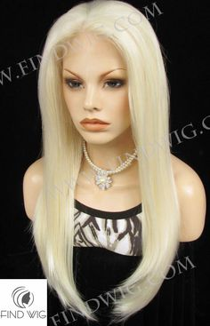 Lace Front Wig FW2-1001/613. Straight Blonde Long Wig. New Style Wig. Wig Shop. http://findwig.com/synthetic-lace-front-wig-stright-blond-long-hair.html