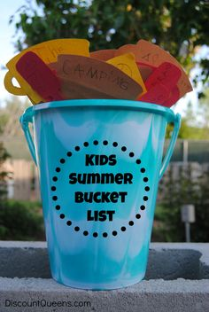 Kids Summer Bucket List #kids #fun #summer