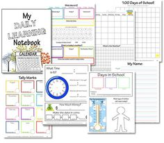 Free Daily Learning Notebook Printables {Preschool & Elementary}